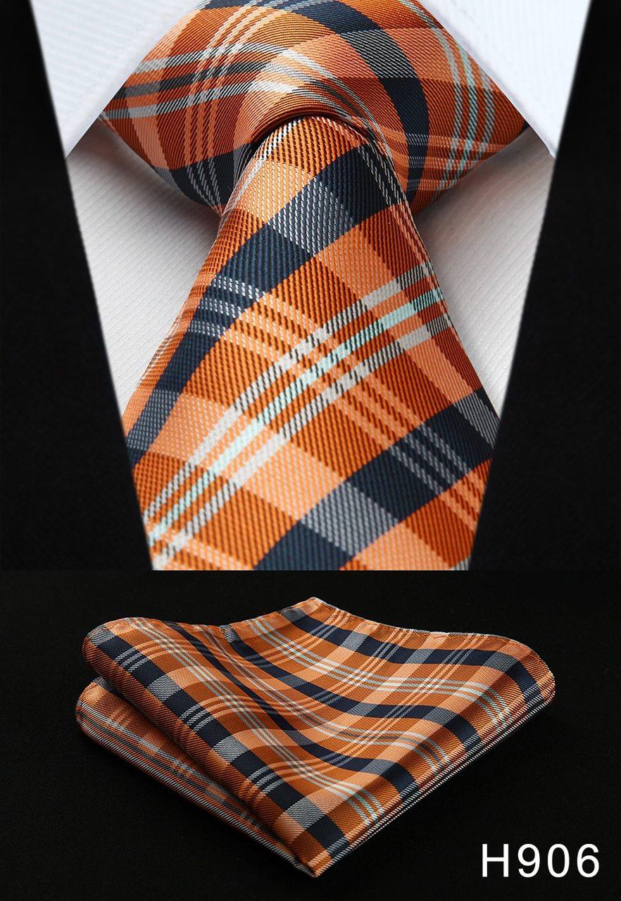 Hot Classic Stripe Brown Beige Black JACQUARD WOVEN 100/% Silk Men/'s Tie Necktie