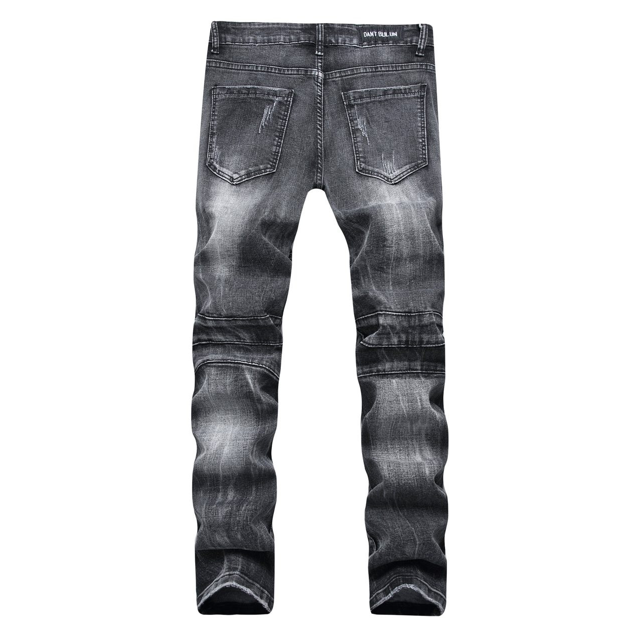 perfect quality hoard as a rare commodity classic shoes YUANL SH New Ripped Jeans Men Stretch Cargo Denim Biker Jeans with Zippers  Pleated straight brand jeans Men's Scratched Pants
