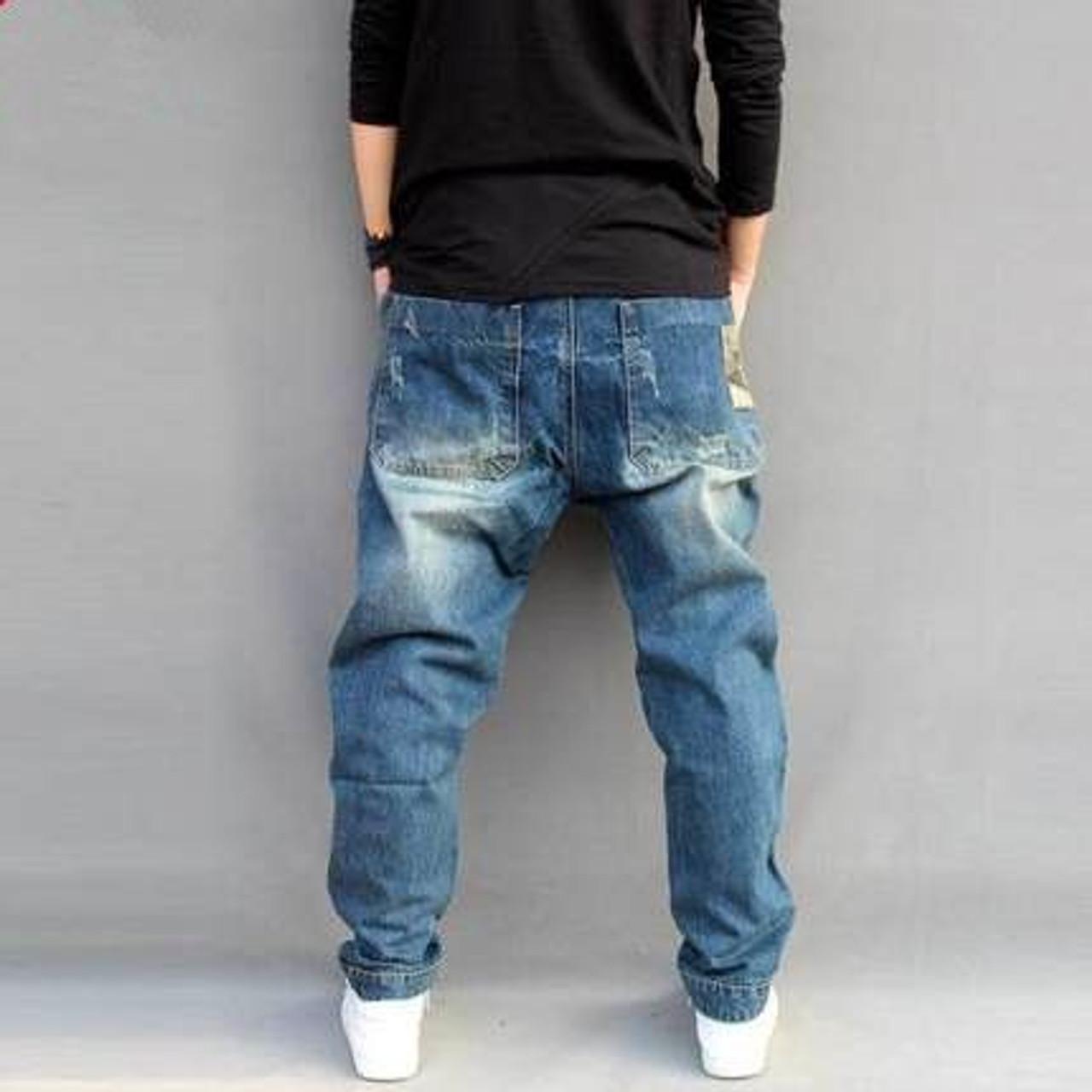 Blue Hole Ripped Baggy Jeans Mens Hip Hop Streetwear Skateboard Denim Pants Men S Camouflage Loose Jeans Plus Size 4xl 102106 Onshopdeals Com