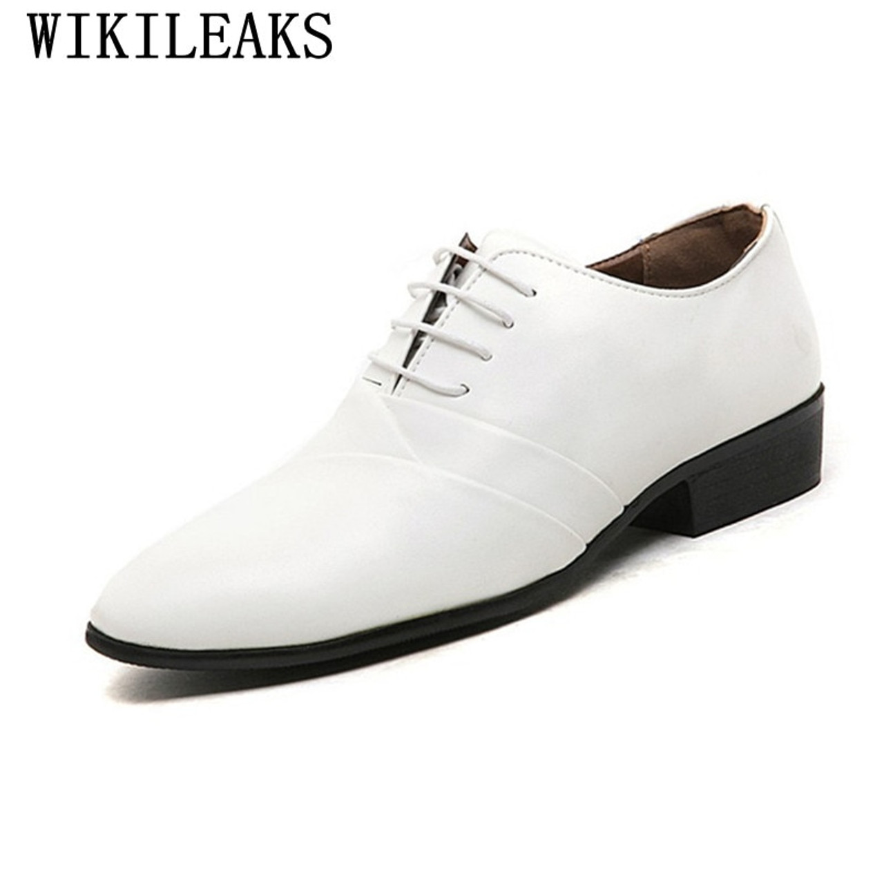 1c7c043d15 2018 designer wedding shoes man leather white oxford shoes for men formal  mariage mens pointed toe dress shoes sapatos masculino
