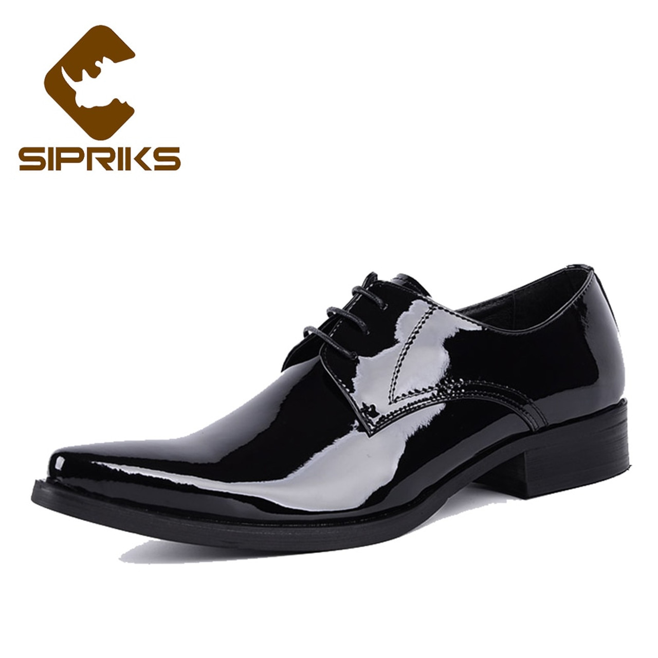 Sipriks Luxury Mens Patent Leather Black Shoes Pointed Toe Shiny Official  Shoes Elegant Mens Social Shoes Grooms Wedding Dress - OnshopDeals.Com b5faf5dc1640