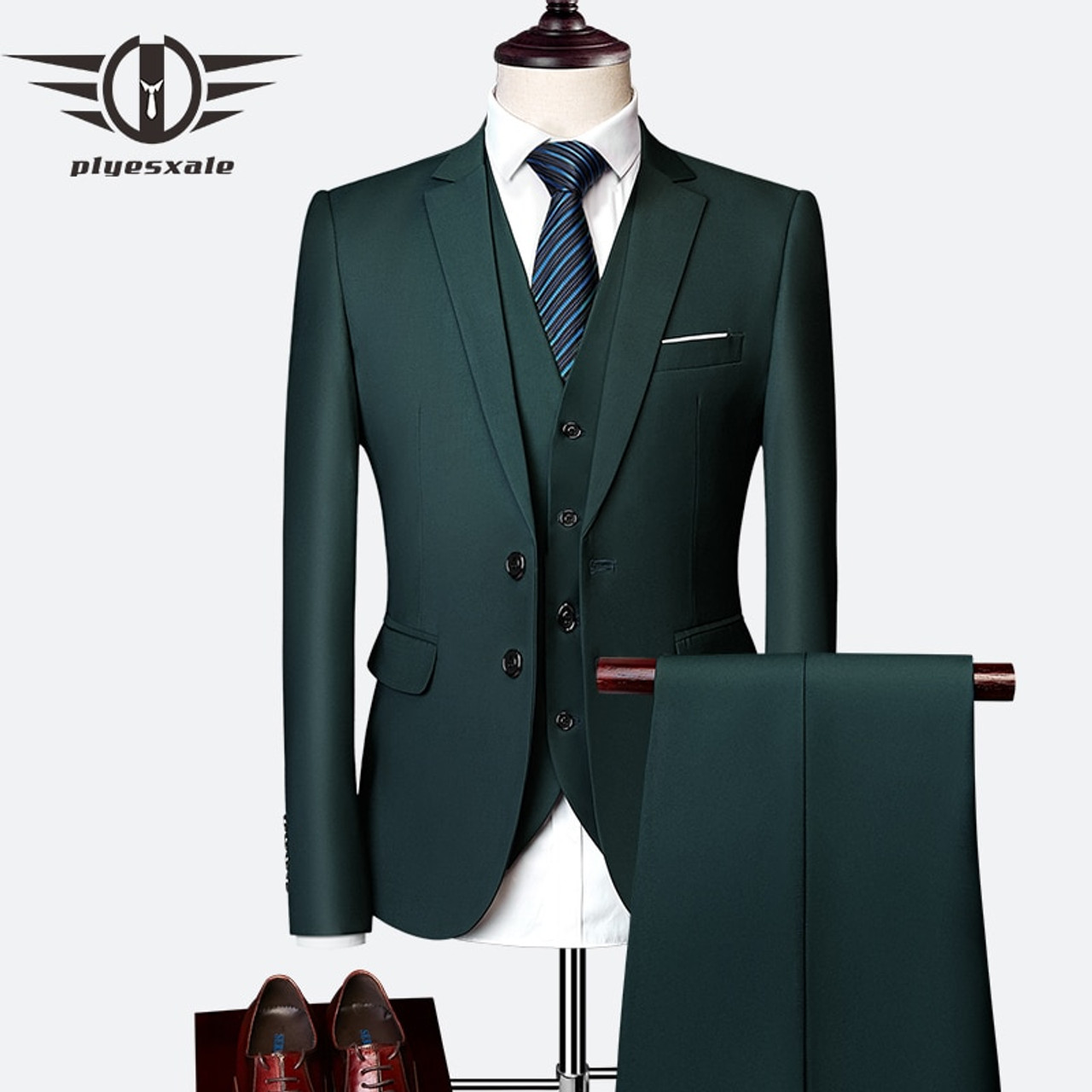 d23528041416 ... Plyesxale 3 Piece Wedding Suits For Men Slim Fit Men's Suits Formal  Burgundy Green Purple Yellow ...
