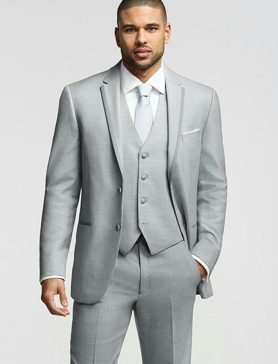 2019 Men Suits for Wedding Grey Men Suit Classic Slim fit Blazer Masculino  Simple Custom Prom Men Tuxedo 3 Piece Vestidos W46