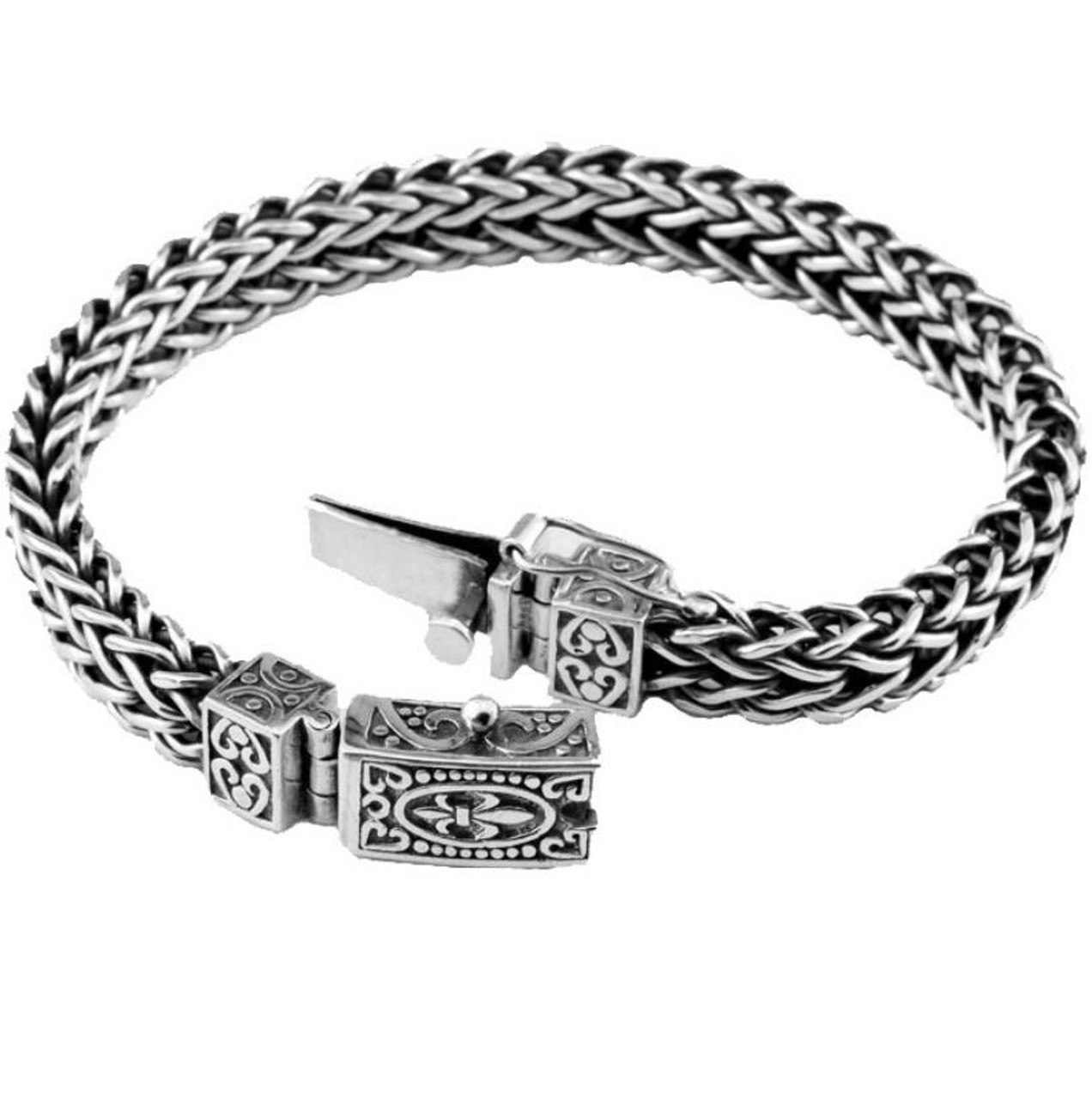 05490102082cc0 ... Handmade 925 sterling silver bracelet Men's latch Vintage Thai silver  original personalized bracelet ...