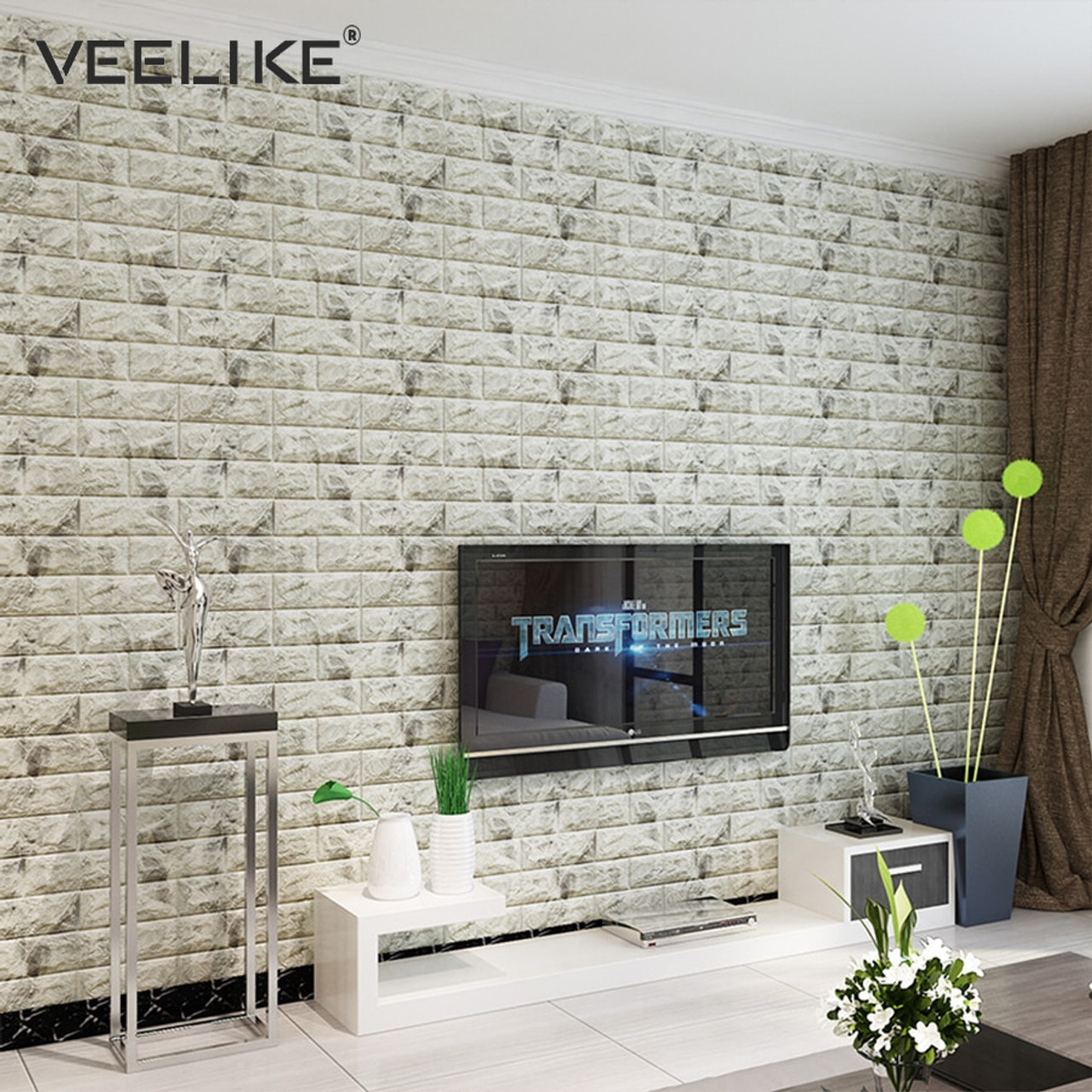 Waterproof Foam Brick 3d Wall Panel Diy Self Adhesive Wallpaper For Kids Room Bedroom Wall Decor 3d Brick Living Room Wall Paper Onshopdeals Com