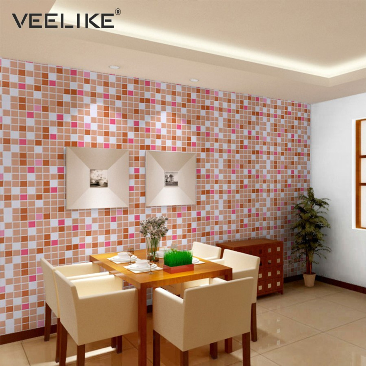 Bathroom Vinyl Pvc Self Adhesive Wallpaper For Kitchen Backsplash Tiles Sticker Contact Paper Waterproof Home Decor Wall Papers Onshopdeals Com