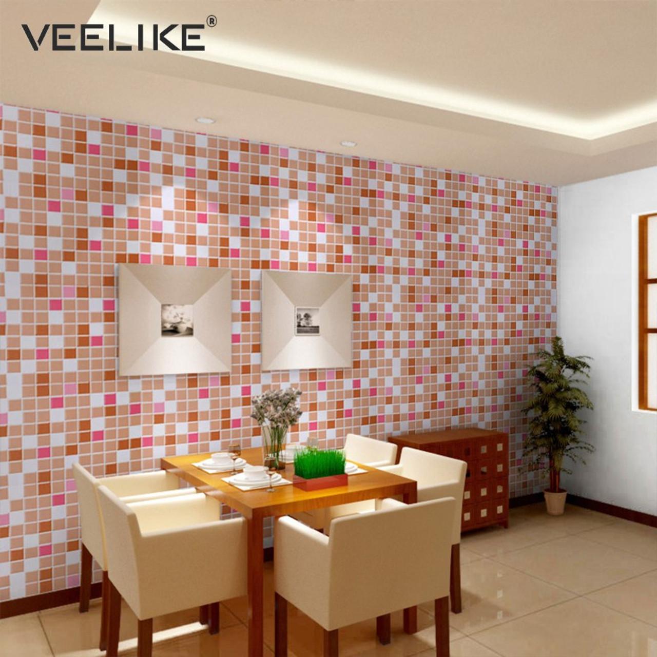 - Bathroom Vinyl PVC Self Adhesive Wallpaper For Kitchen Backsplash