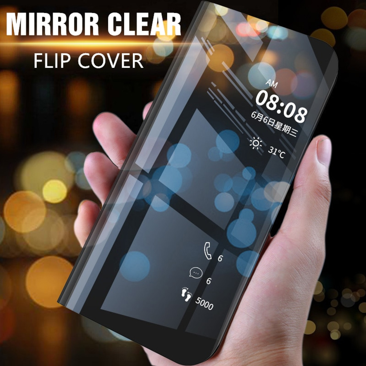 promo code 8722d 8fa38 Mirror Flip Case For Samsung Galaxy A9 Pro Clear View Cover For Samsung A9  Star Lite 2018 A6 A8 Plus A7 J2 2018 J4 J6 Plus Case