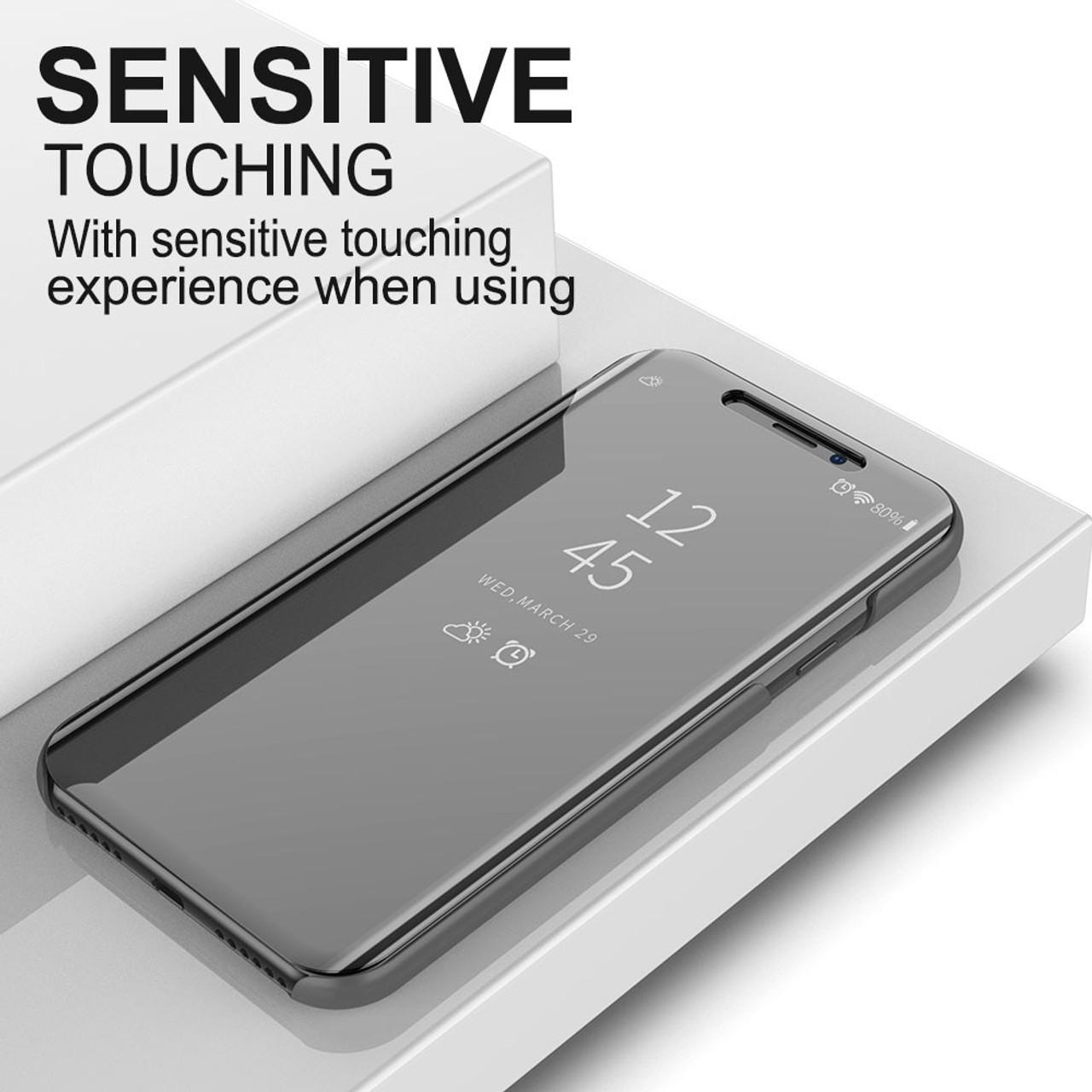promo code 8edd6 80bc8 Mirror Flip Case For Samsung Galaxy A9 Pro Clear View Cover For Samsung A9  Star Lite 2018 A6 A8 Plus A7 J2 2018 J4 J6 Plus Case