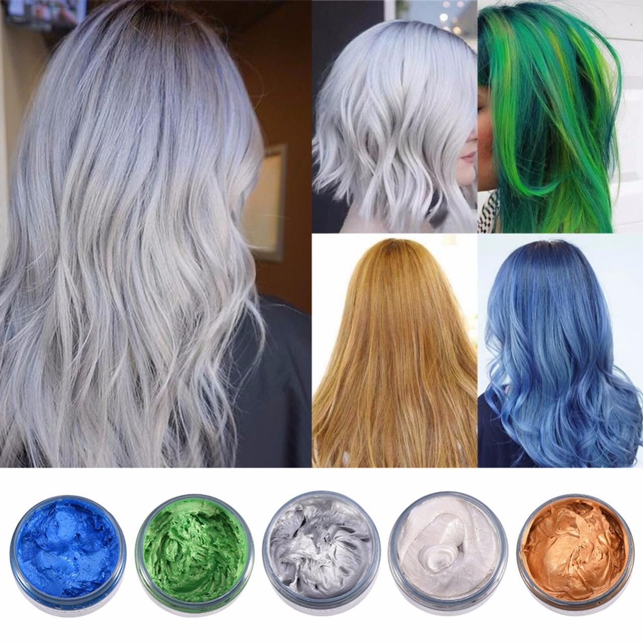 MOFAJANG 120g Hair Coloring Wax Silver Ash Grey Strong Hold ...
