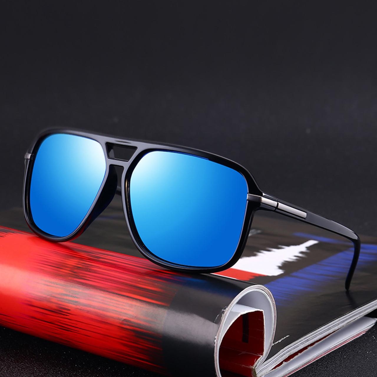 2491b378956 ... UVLAIK Oversized Sunglasses Men Polarized Mirror Goggles Driving Sun  Glasses Man Brand Designer Retro HD Driver ...