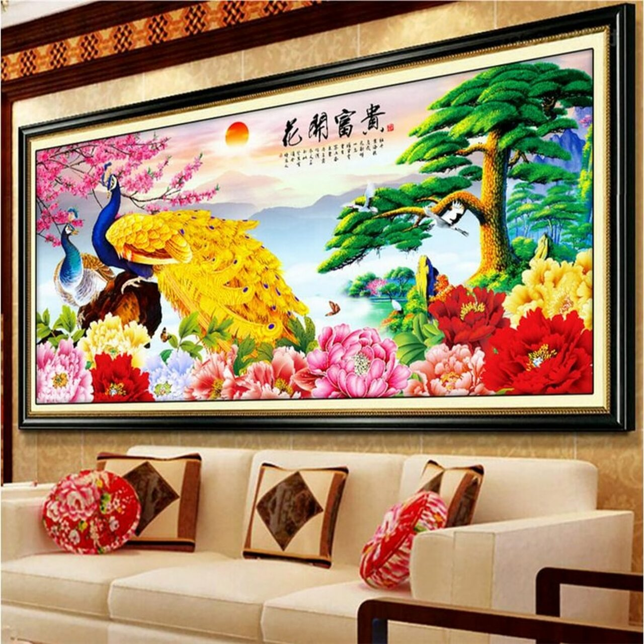 Beibehang Chinese Peacock Photo Wallpaper 3d Mural Wallpaper For Living Room Bedroom Sofa Backdrop Murals Wall Papers Home Decor Onshopdeals Com