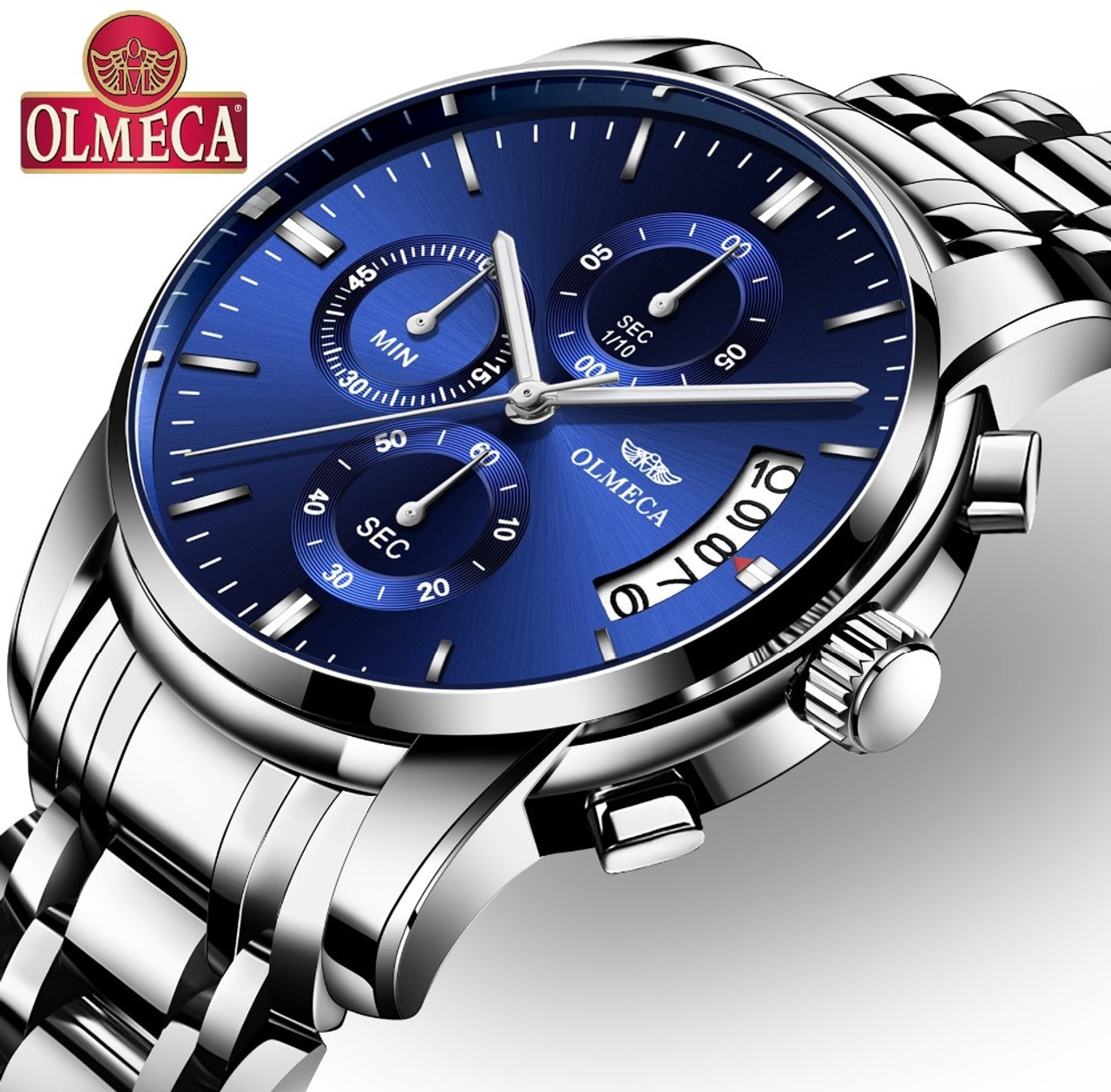 8827fc193de OLMECA Clock Military Relogio Masculino Waterproof Watches Stainless Steel  Fashion Chronograph Wrist Watch Watches for men ...