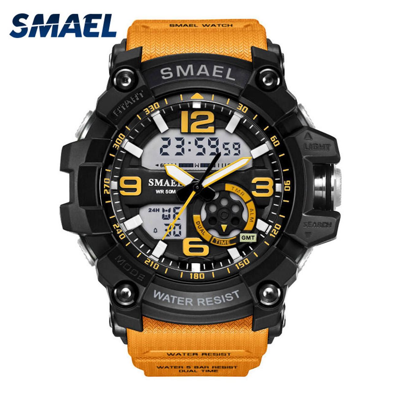93883bd2 S Shock Military Watches Army Men's Wristwatch LED Quartz Watch Digtial  Dual Time Men Clock 1617 reloj hombre Sport Watch Army