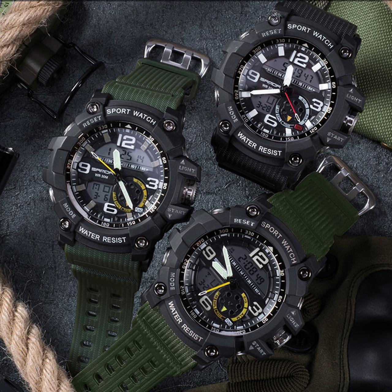 f987d3a0e9a ... SANDA Military Sport Watch Men Top Brand Luxury Famous Electronic LED Digital  Wrist Watch Male Clock ...