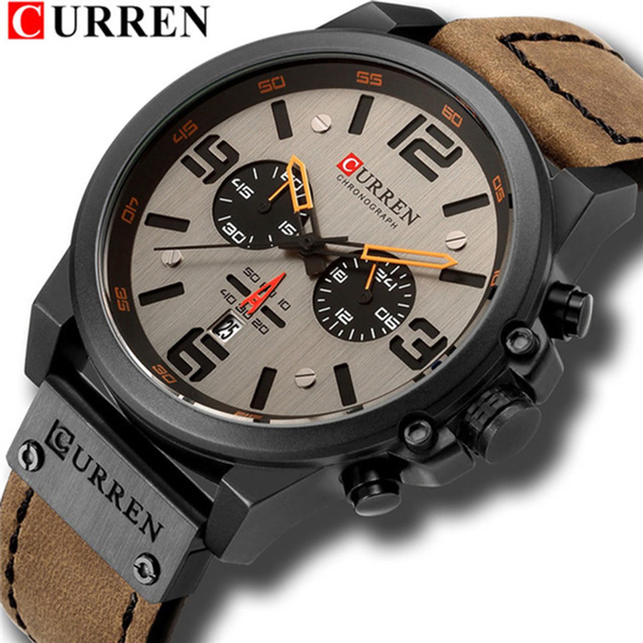 New curren 8314 Mens Watches Top Brand Luxury Men Military Sport Wristwatch  Leather Quartz Watch erkek ... 8363614bc4a