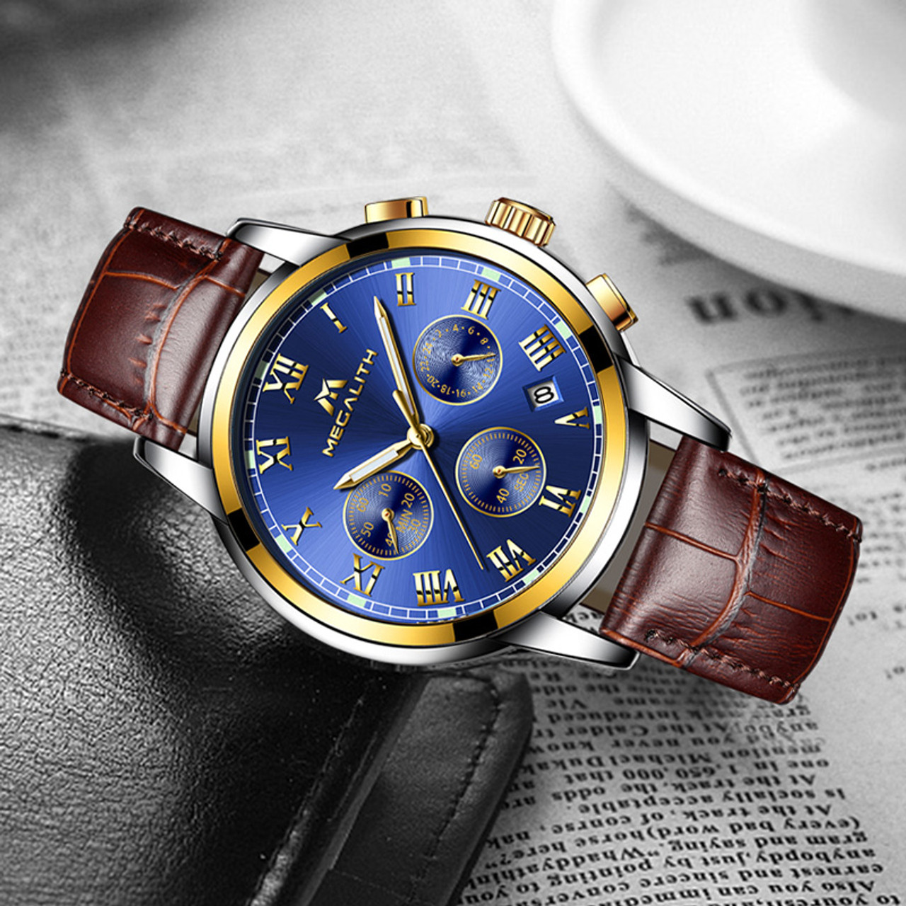 d625075aef86 ... MEGALITH Watches Men Sports Waterproof Date Analogue Quartz Men s  Watches Chronograph Business Watches For Men Relogio ...