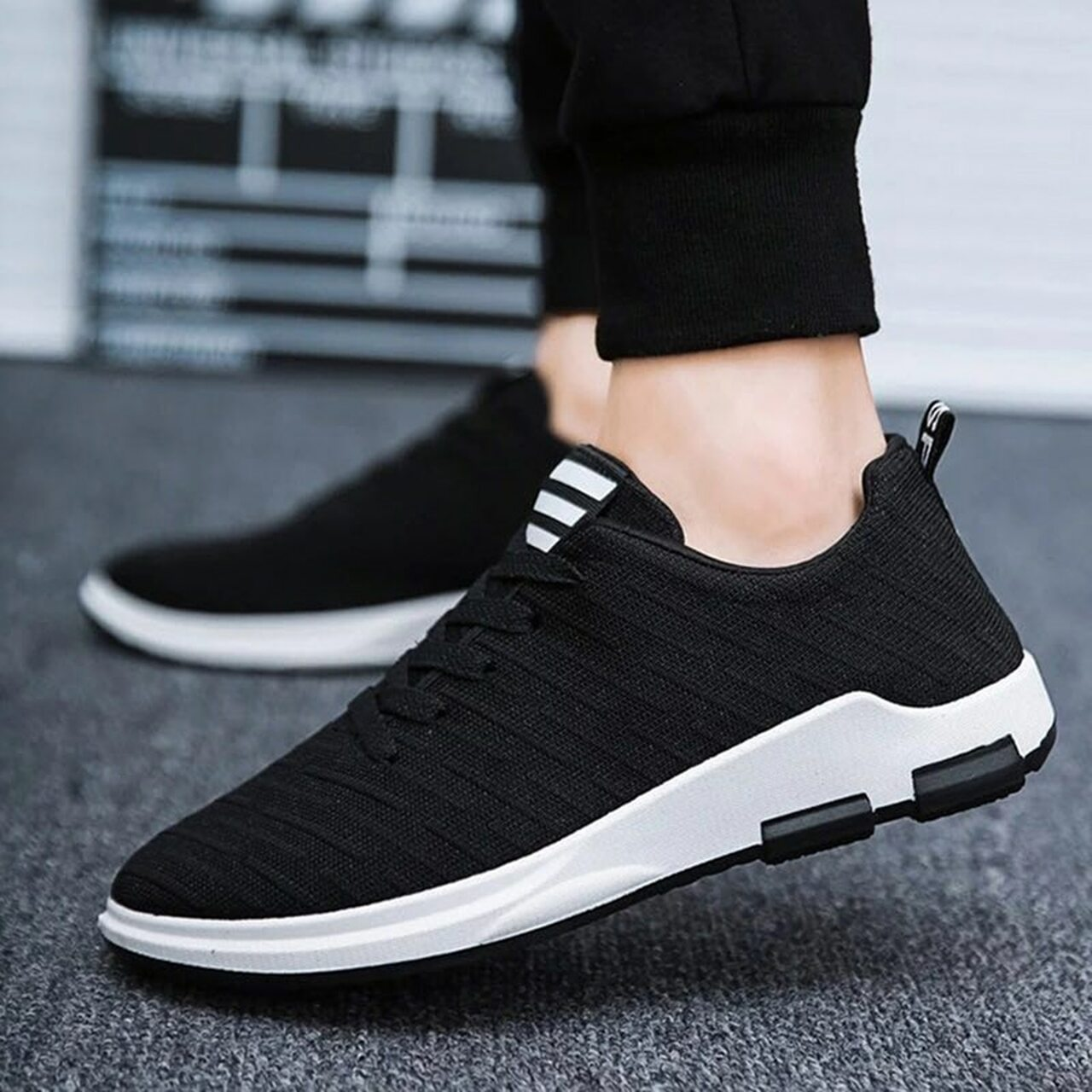 Ariari 2019 Spring Men's Casual Shoes Breathable Mesh Mens Sneakers Lace-up Men's  shoes Flat shoes for men - OnshopDeals.Com