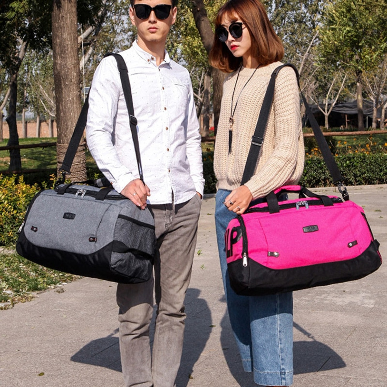 Scione Nylon Travel Bag Large Capacity Men Hand Luggage Travel Duffle Bags Nylon Weekend Bags Women Multifunctional Travel Bags Onshopdeals Com