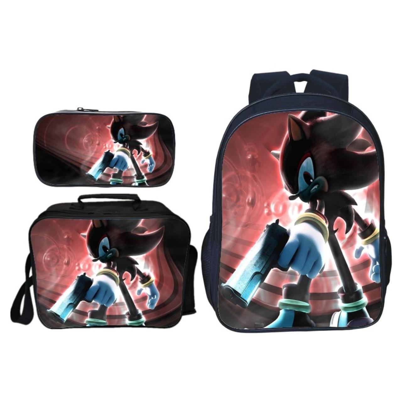 bf19ea68ea ... 3PCS set Cartoon Children Sonic Shadow Printing Backpack Kids School  Bags Boys Girls Primary Schoolbag ...