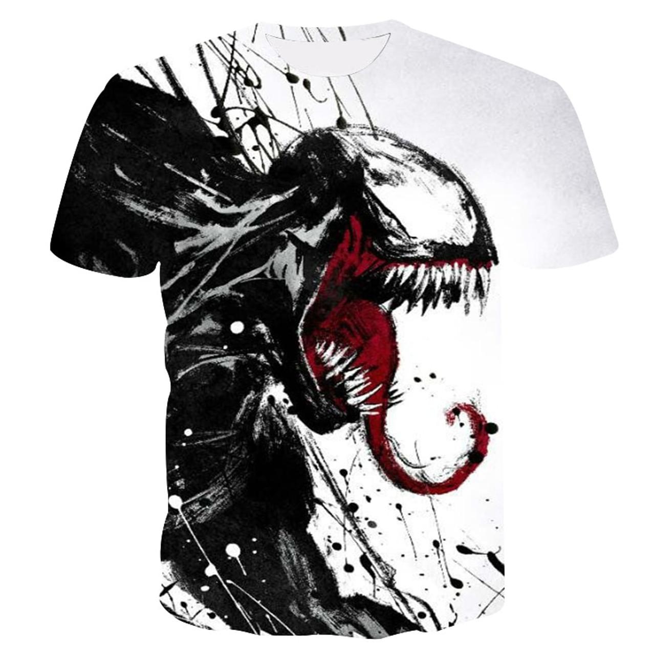 889bdfa148 2019 new venom men's t-shirt 3D printing Marvel series casual shirt summer  cool T ...