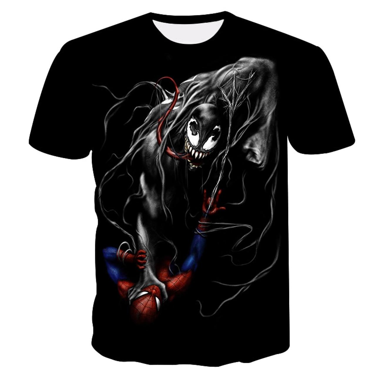 2cc24c78532 ... 2019 new venom men s t-shirt 3D printing Marvel series casual shirt  summer cool T ...