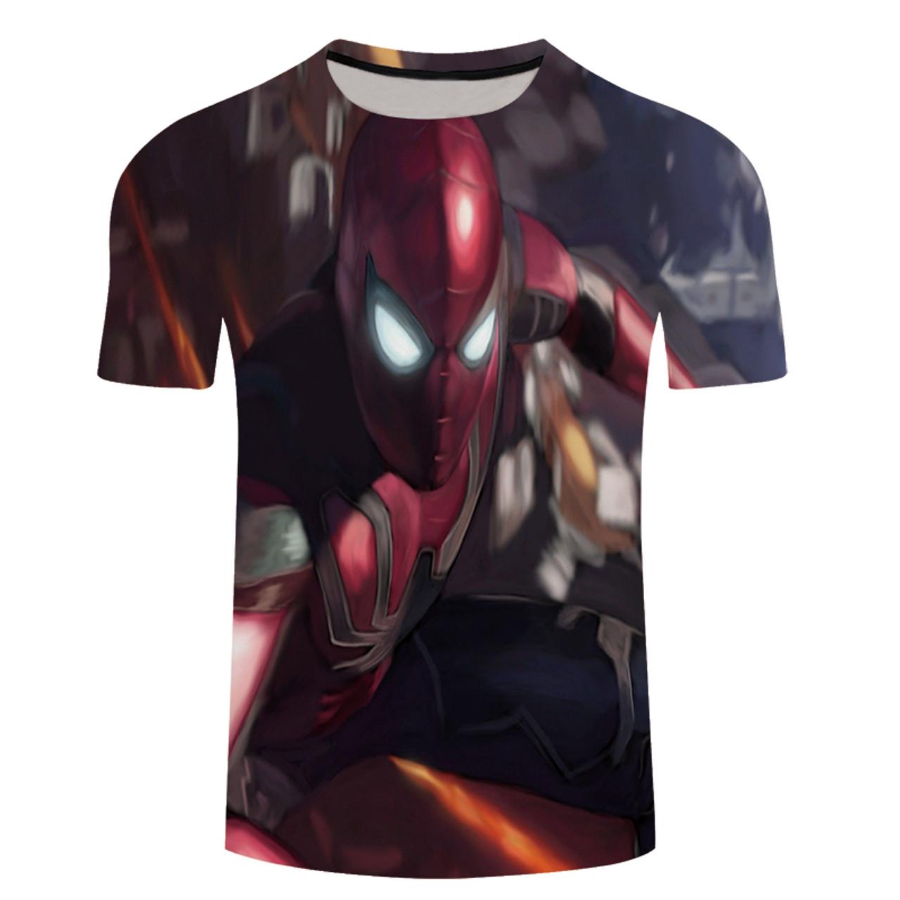 d2cca596d54497 2018 Avengers 3 Iron spider man 3D Print T-shirt Men/Women Marvel Superhero  ...