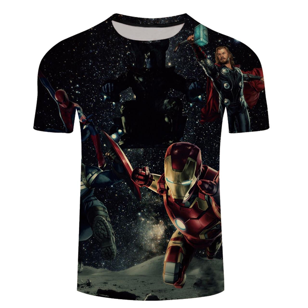 2926ed95672c90 ... 2018 Avengers 3 Iron spider man 3D Print T-shirt Men/Women Marvel  Superhero ...