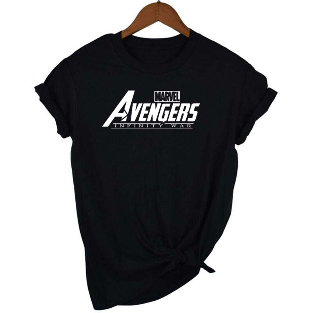 39463378 ... New Fashion 2018 MARVEL AVENGERS INFINITY WAR t-Shirt woman cotton  short sleeves Casual male ...