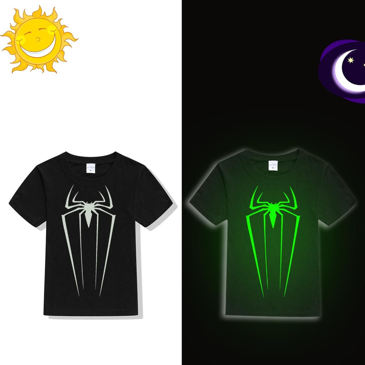 Power Symbol Button Glow in The Dark Ladies Tshirt T-Shirt Tee Top