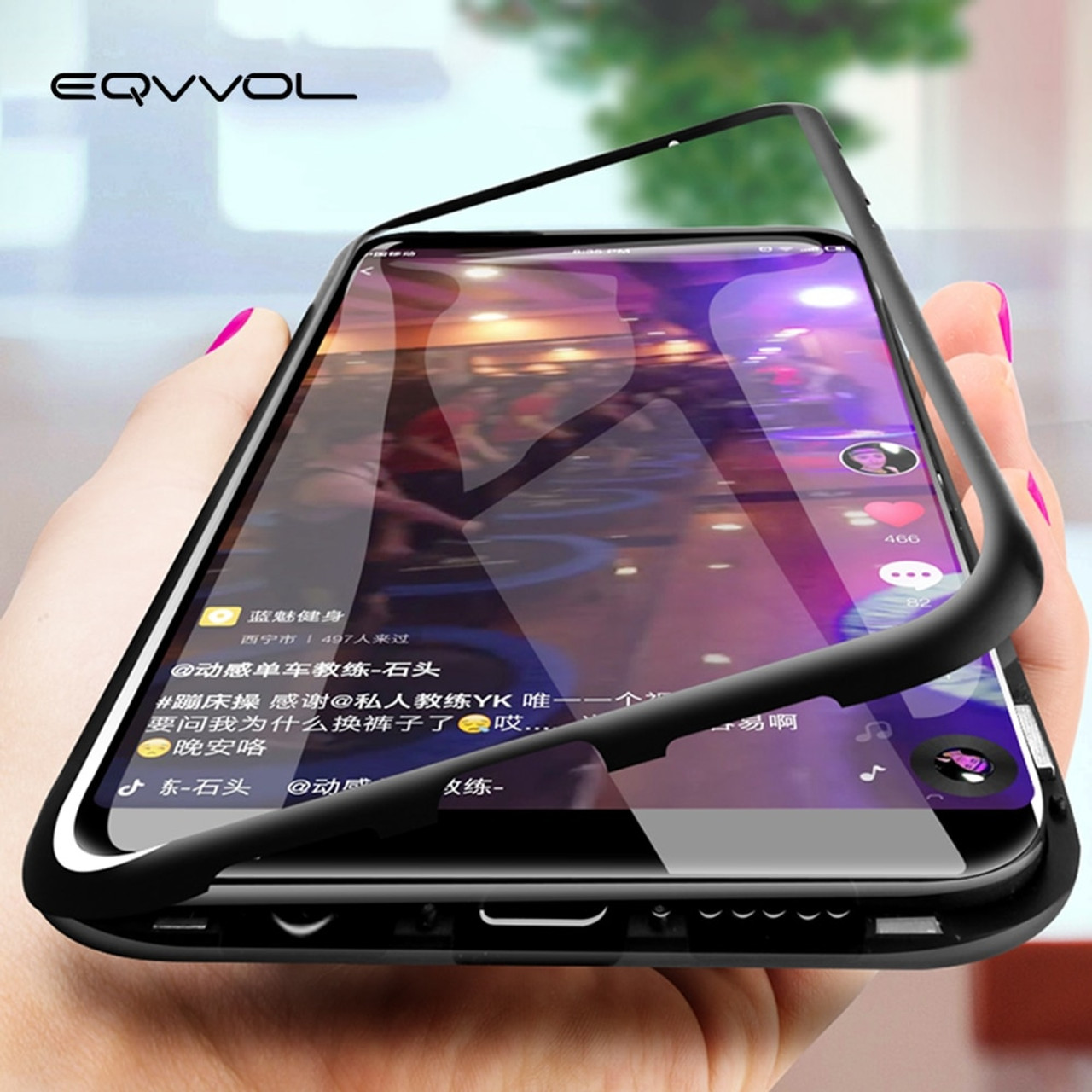 online store f403f fa754 Eqvvol Magnetic Adsorption Metal Case For Samsung Galaxy S9 S8 Plus S7 Edge  Tempered Glass Back Magnet Cover For Note 8 9 Cases