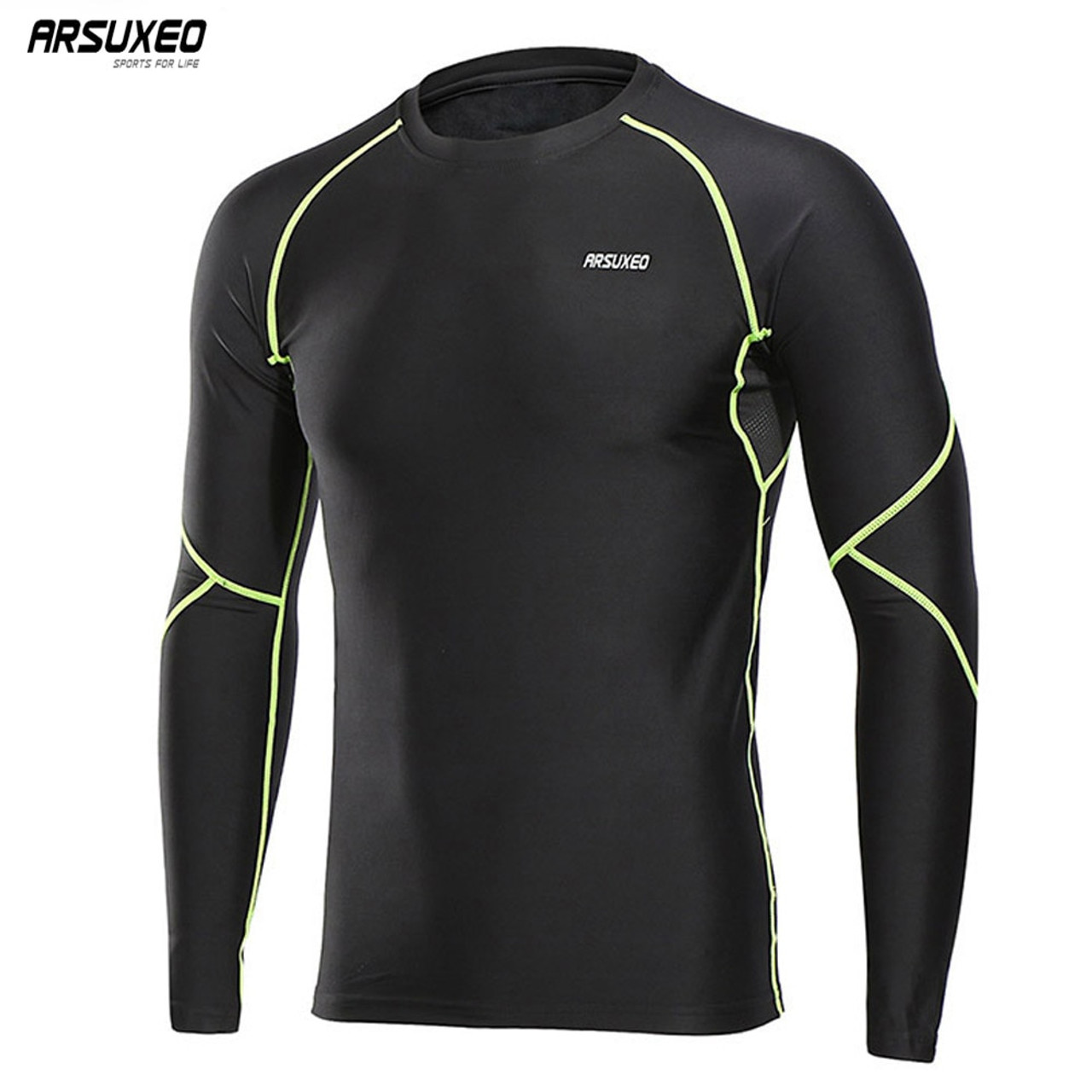 991744772 ARSUXEO 2018 Men s Winter Warm Up Fleece Compression Shirt Base ...