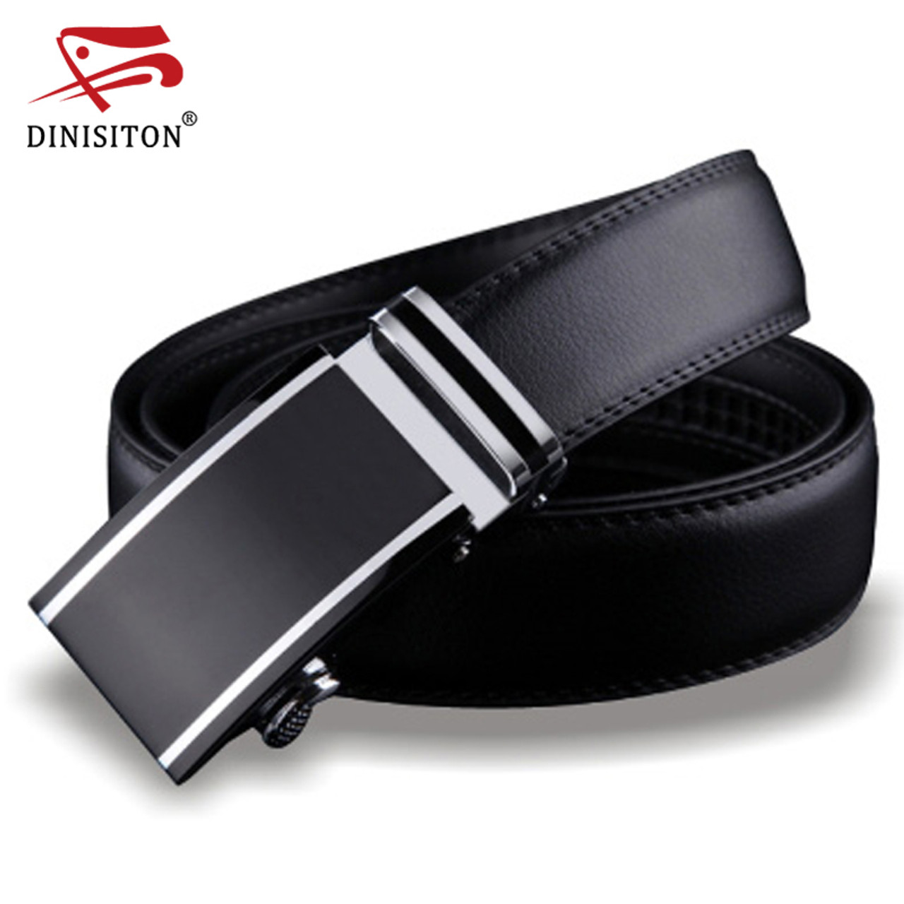 ab1180ec43e DINISITON Genuine Leather belts for men Designers high quality Luxury  automatic buckle belt Waist strap for ...