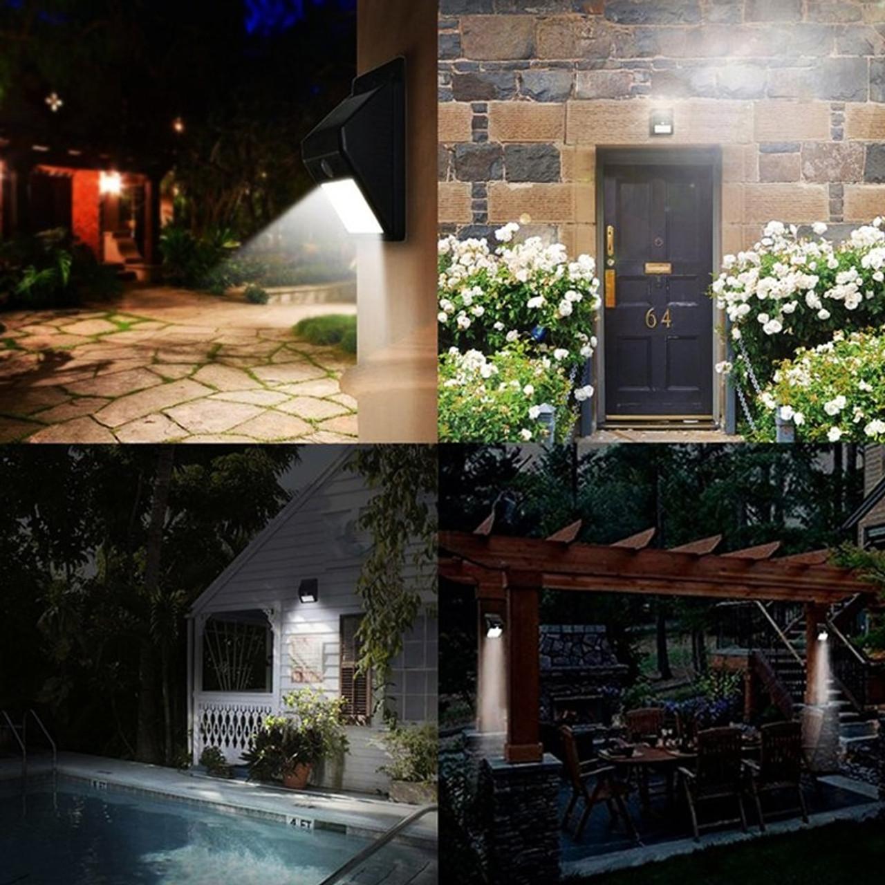 Solar Power Lights Motion Sensor Wall Light Outdoor Waterproof Garden Yard Lamp