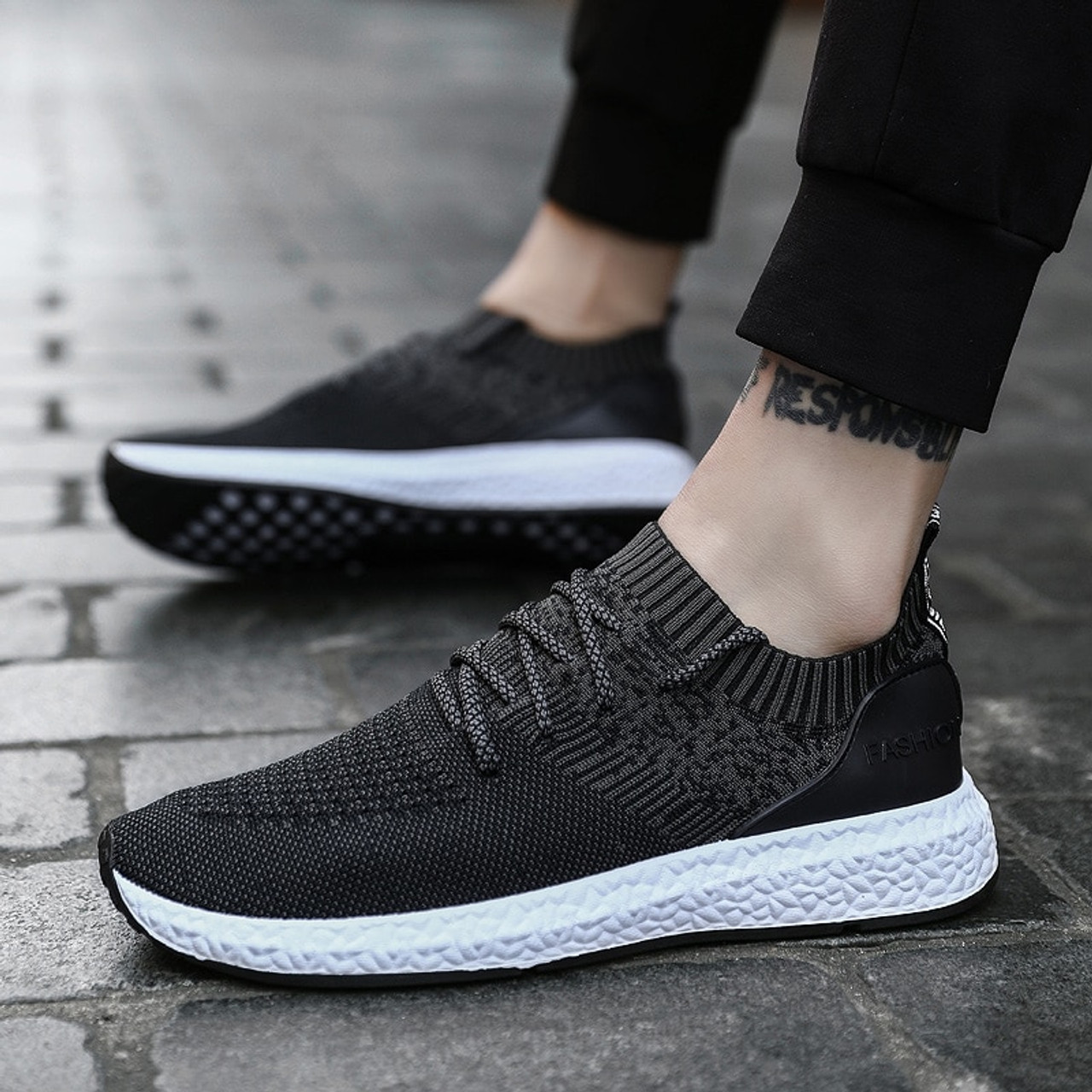 f93222959 2019 Casual Shoes Men Flat Sneakers Breathable Fashion Mesh Mens Trainers  Shoes Summer Sneakers Men Running Shoes Big Size 45 - OnshopDeals.Com