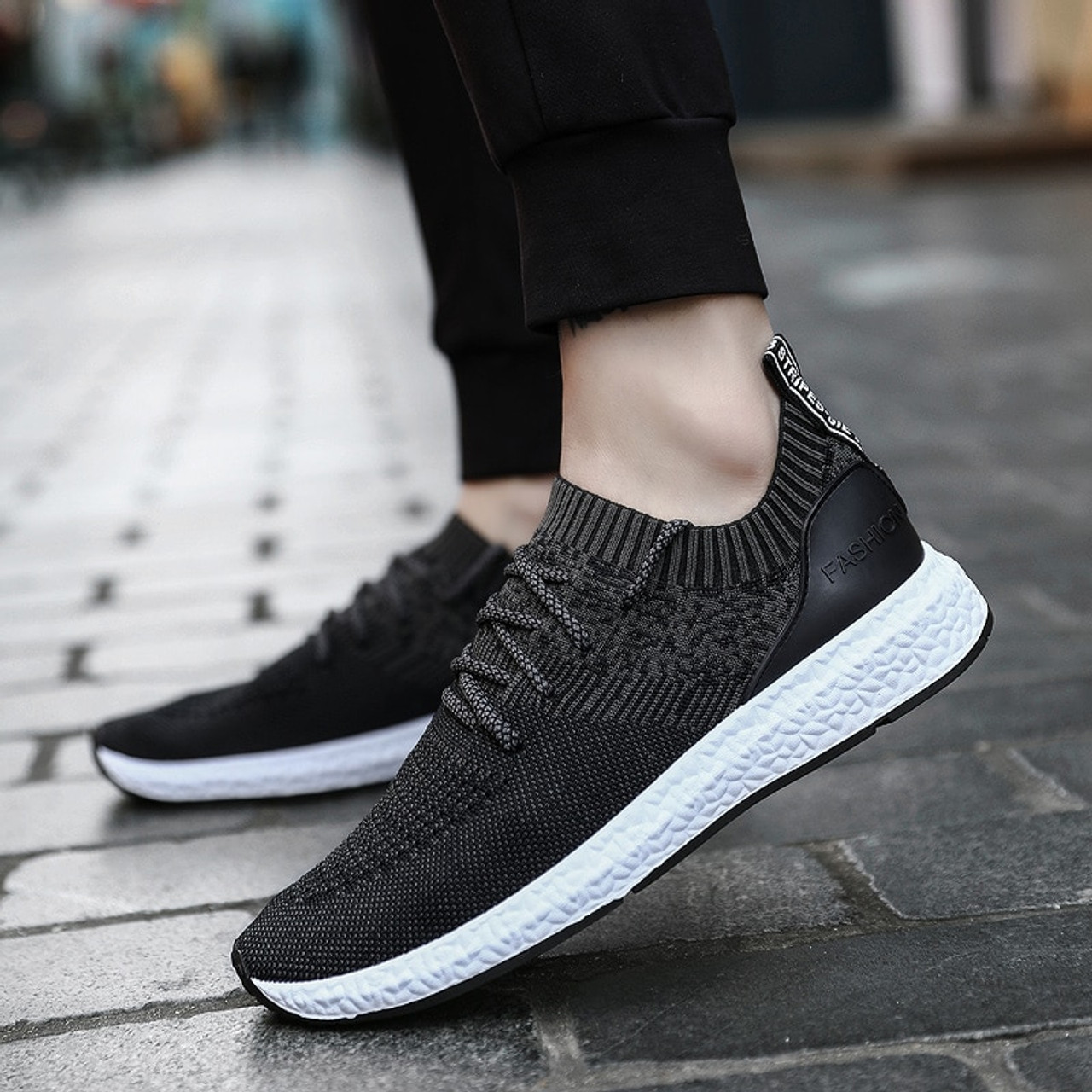 4d133a94e569 ... 2019 Casual Shoes Men Flat Sneakers Breathable Fashion Mesh Mens  Trainers Shoes Summer Sneakers Men Running ...