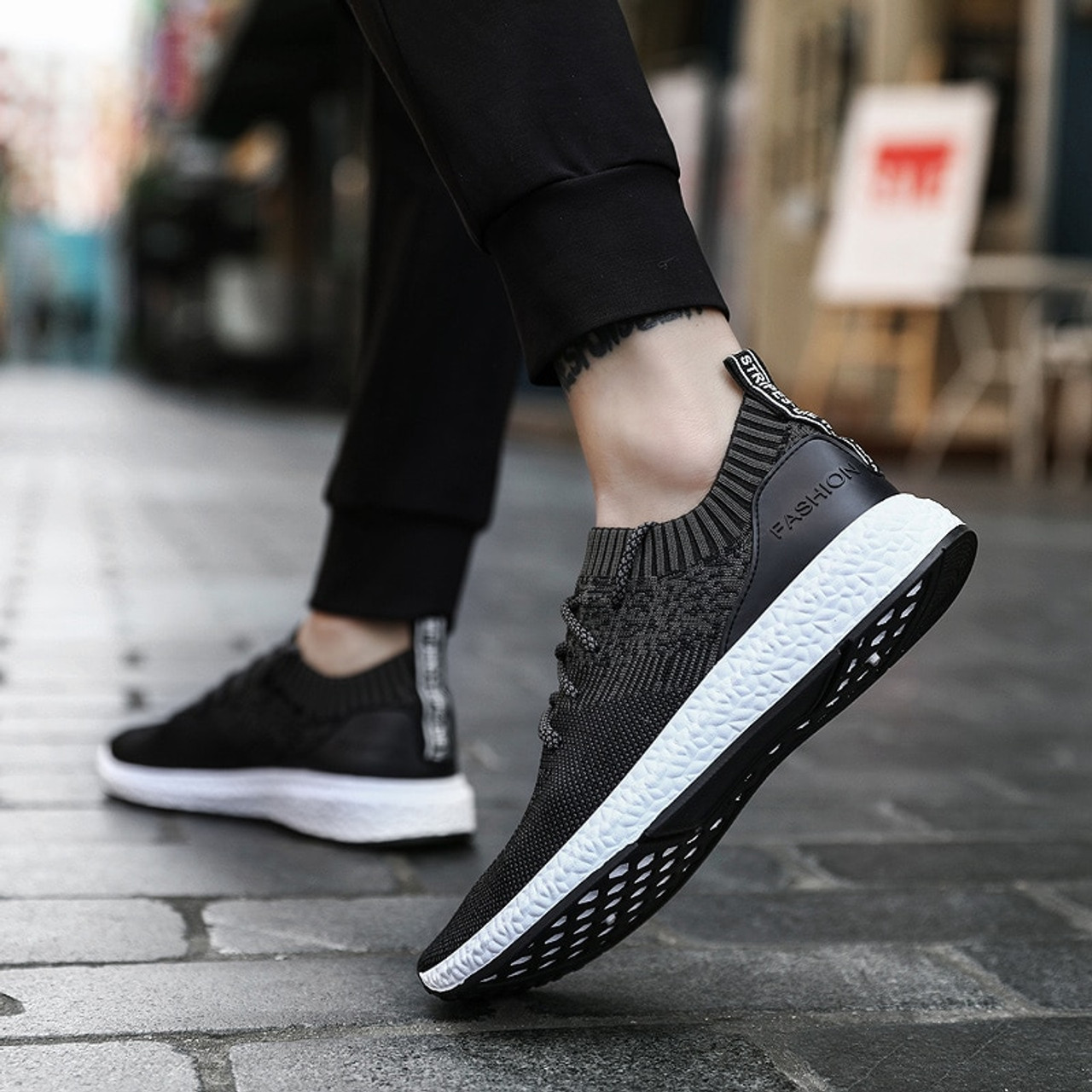 1dbcecfb6fa 2019 Casual Shoes Men Flat Sneakers Breathable Fashion Mesh Mens Trainers  Shoes Summer Sneakers Men Running Shoes Big Size 45