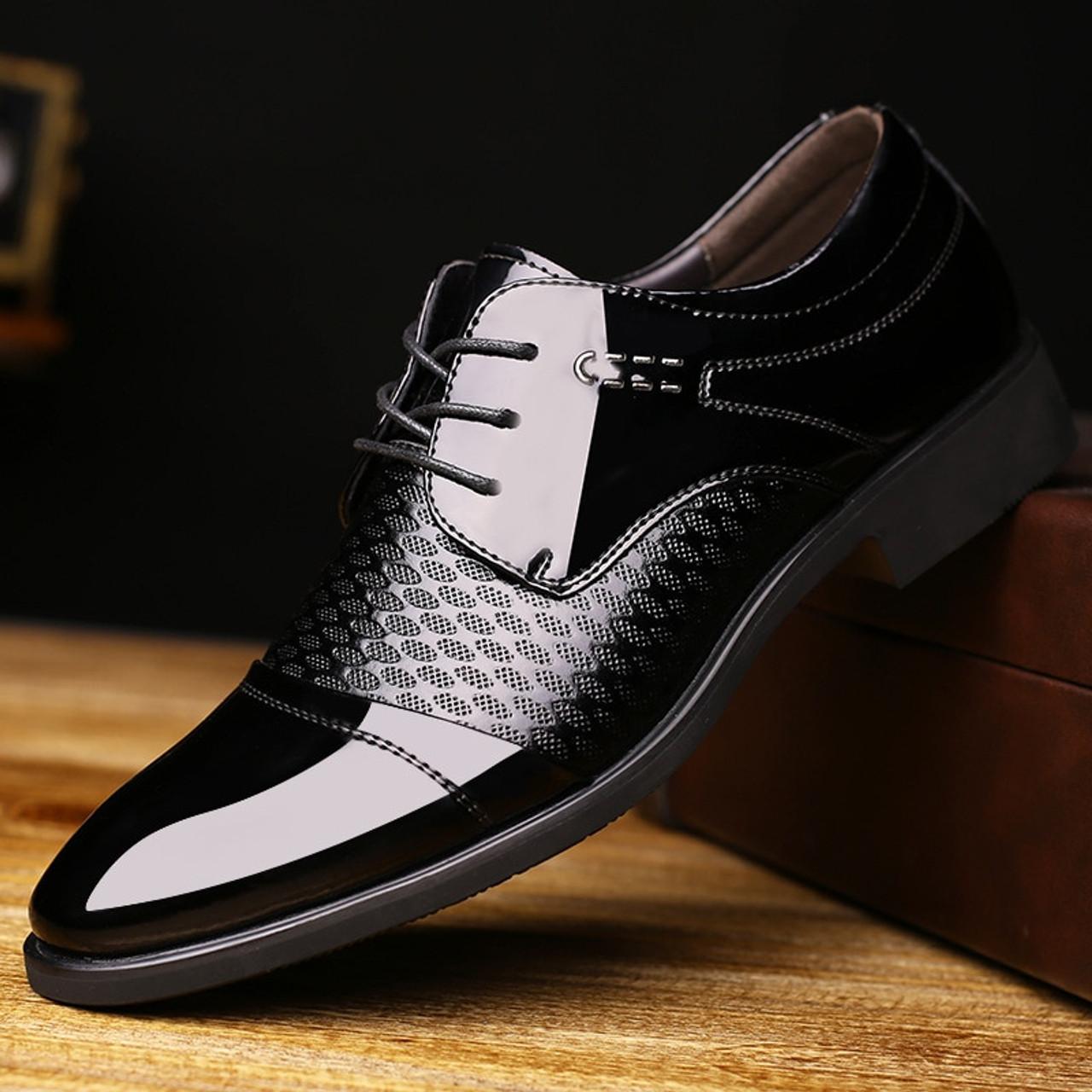 Breathable Pointed Toe Oxford Men s Footwear Formal Dress Shoes Man 2018  Summer Elegant Suit Shoe Black Brown Wedding Shoes - OnshopDeals.Com 7d0e7925c9bb