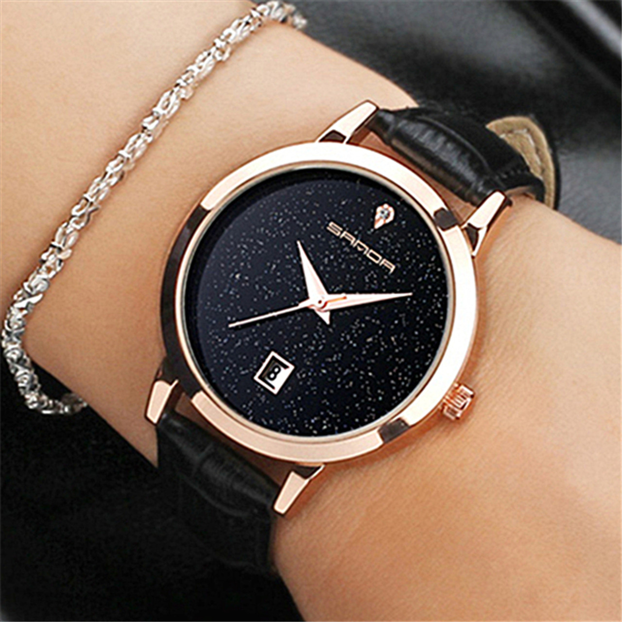 9a448ce0b56 SANDA brand quartz watch ladies waterproof leather watch watch fashion  romantic woman watch Relogio Faminino - OnshopDeals.Com