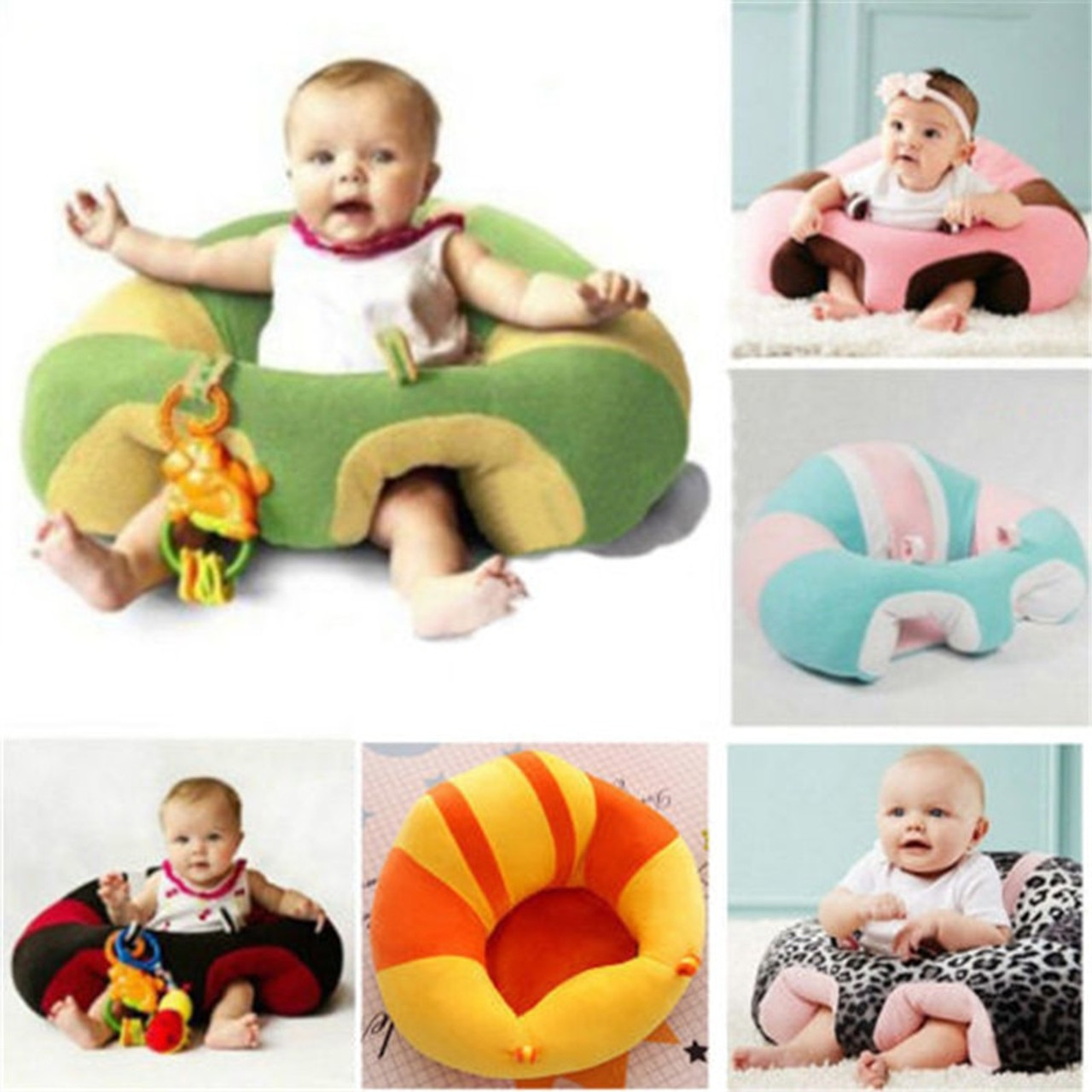 Comfortable Kids Baby Support Seat Sit Up Soft Chair Cushion Sofa Plush Pillow Toy Bean Bags Seats Chairs Onshopdeals Com
