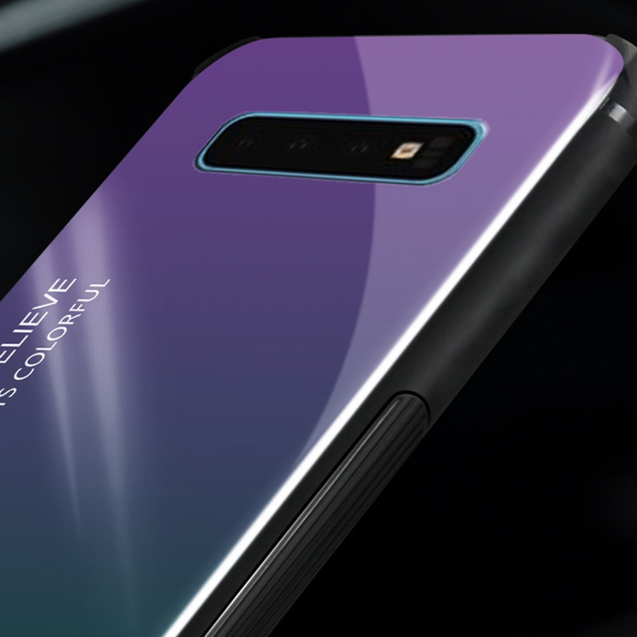 1315ae7bdad ... Gradient Tempered Glass Phone Case For Samsung Galaxy S10e S8 S9 S10 Plus  Note 8 9 ...