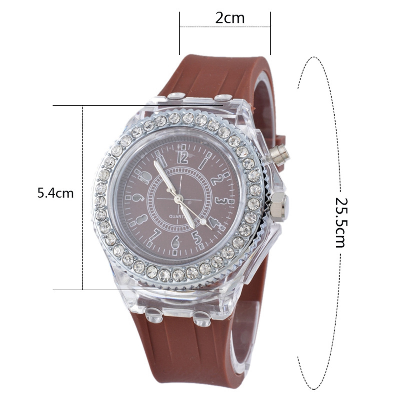 6e51579d11dd ... 2017 Luminous LED Sport Watches Women Quartz Watch ladies Women Silicone  Wristwatches glowing Relojes Mujer ...