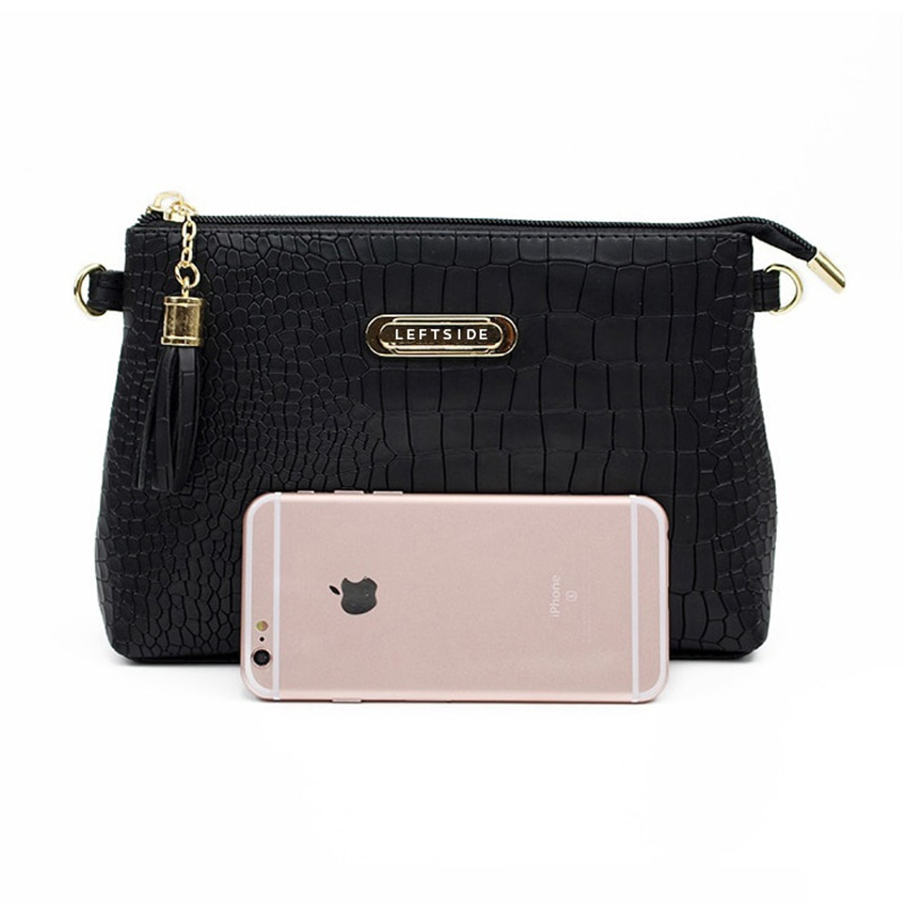 ... women famous brand fashion tassel Small Handbags Hot sale crocodile  women leather messenger bags Shoulder mini ... 890a917772d40