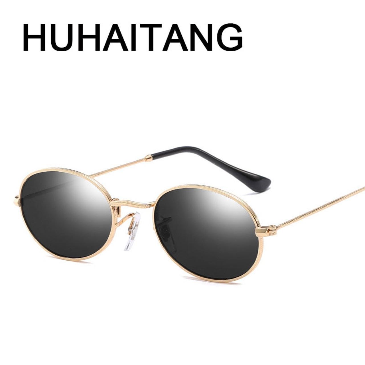 a3f4deb0a9 ... HUHAITANG classic steampunk sunglasses women vintage punk metal small sun  glasses for men 2019 high quality ...