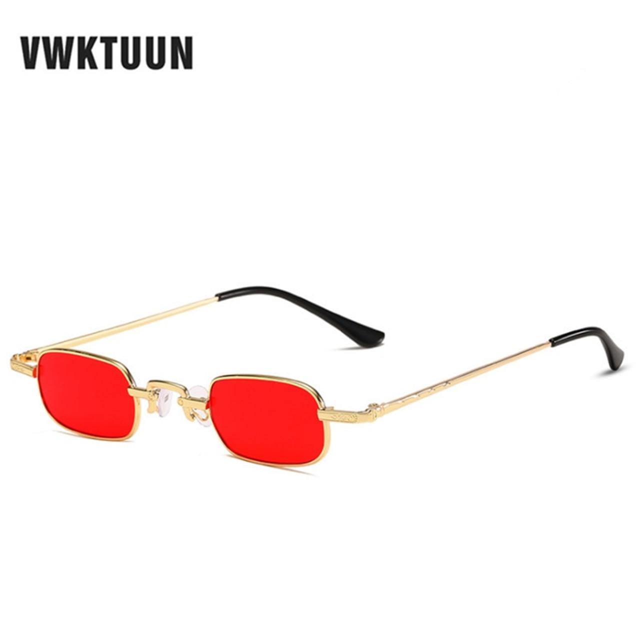 b32bf0db25ca VWKTUUN Metal Sunglasses Men Women Fashion Glasses Small Retro Vintage  Sunglasses UV400 Eyewear Sport Hip Hop ...