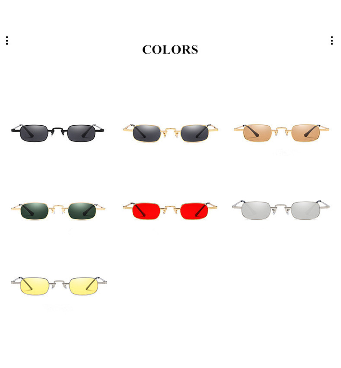 ef6e01c9b1bc ... VWKTUUN Metal Sunglasses Men Women Fashion Glasses Small Retro Vintage  Sunglasses UV400 Eyewear Sport Hip Hop ...