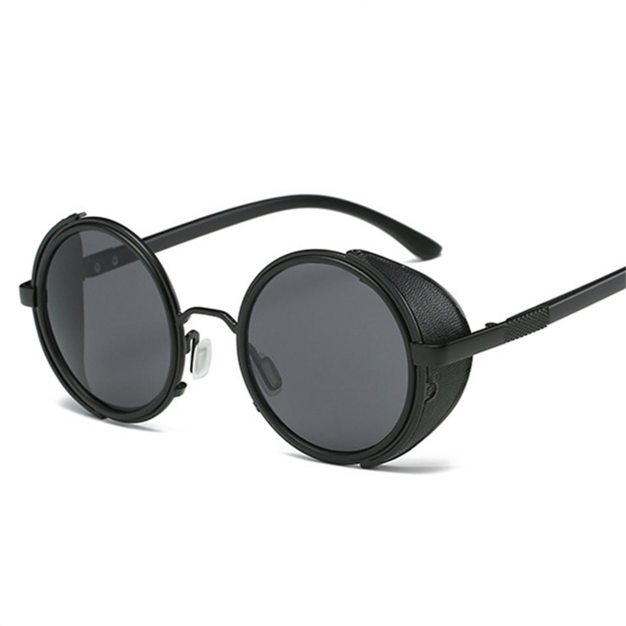 1578c331d0 BARCUR Vintage Aluminum Magnesium Sun glass Men Polarized Sunglasses Round  Steampunk Shades Brand Designer Eyewear ...
