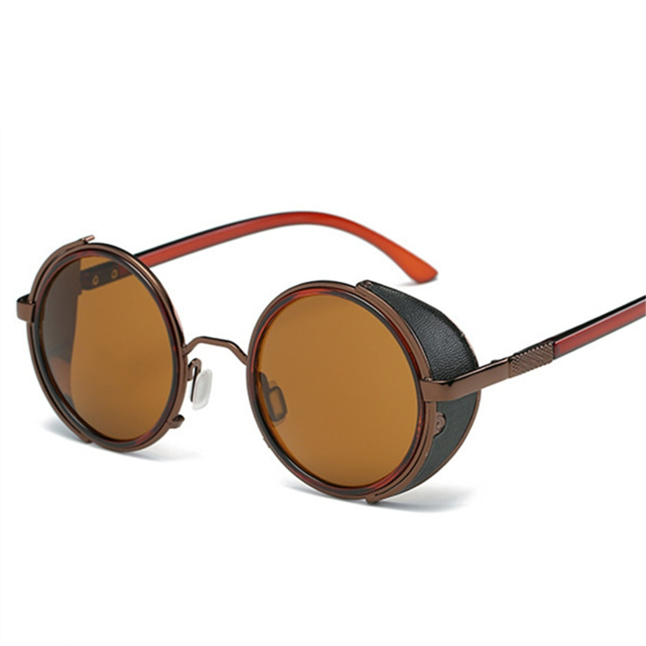 5f780d14f2 ... BARCUR Vintage Aluminum Magnesium Sun glass Men Polarized Sunglasses  Round Steampunk Shades Brand Designer Eyewear ...