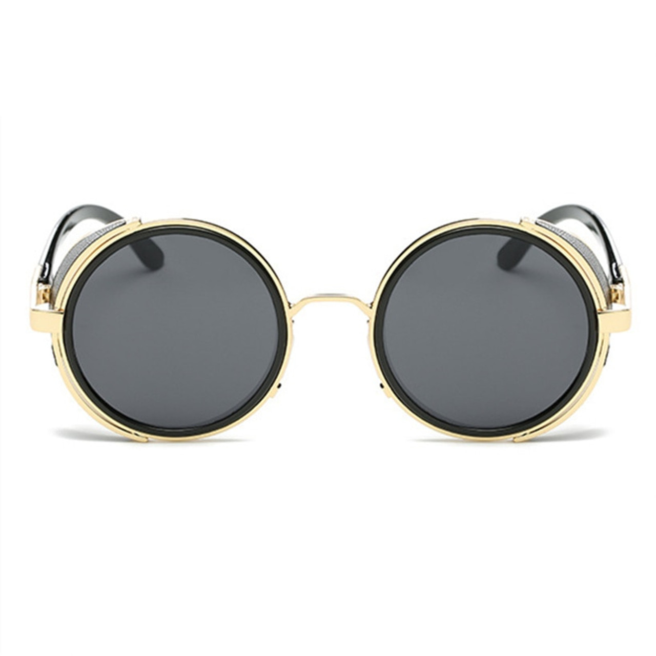 a17a89951f ... BARCUR Vintage Aluminum Magnesium Sun glass Men Polarized Sunglasses  Round Steampunk Shades Brand Designer Eyewear ...