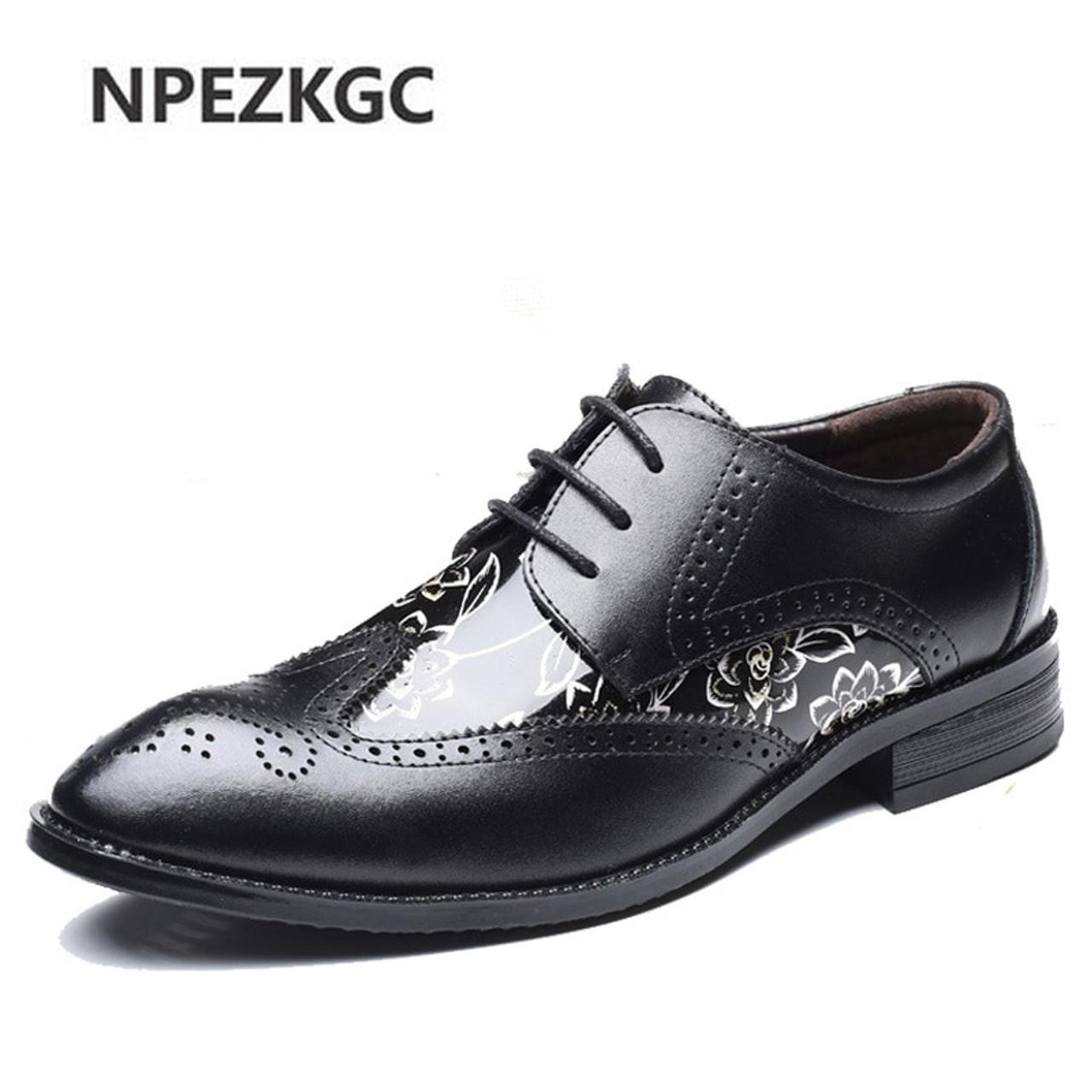 Men's Shoes Shoes Npezkgc Men Shoes Luxury Brand Classic Fashion Formal Wedding Dress Shoes For Men Oxfords Zapatos Hombre Weaving Leather Shoes